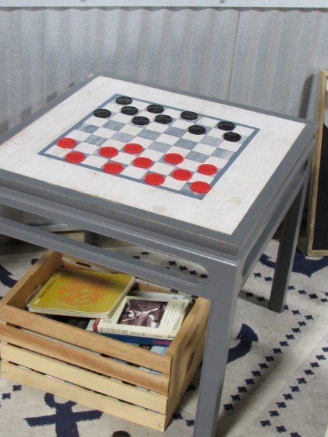 Hand Painted Checkerboard Table