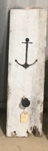 White pallet wood nautical coat hook
