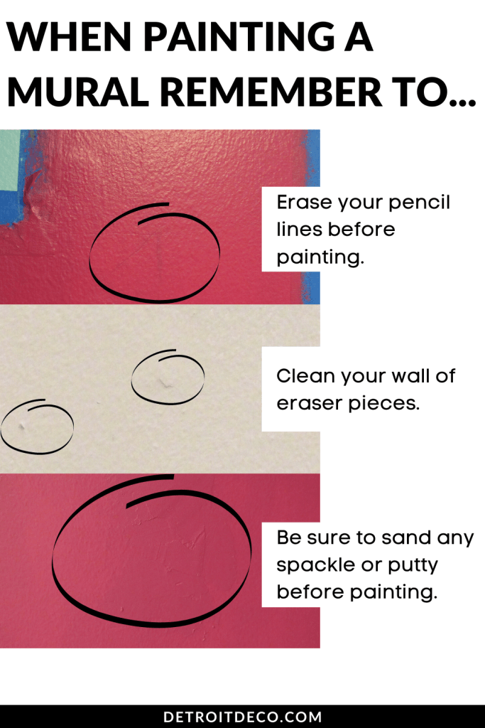 Mistakes when Painting a mural